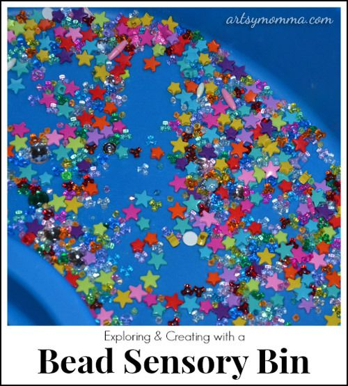 Playing and Learning with Bead Sensory Bins
