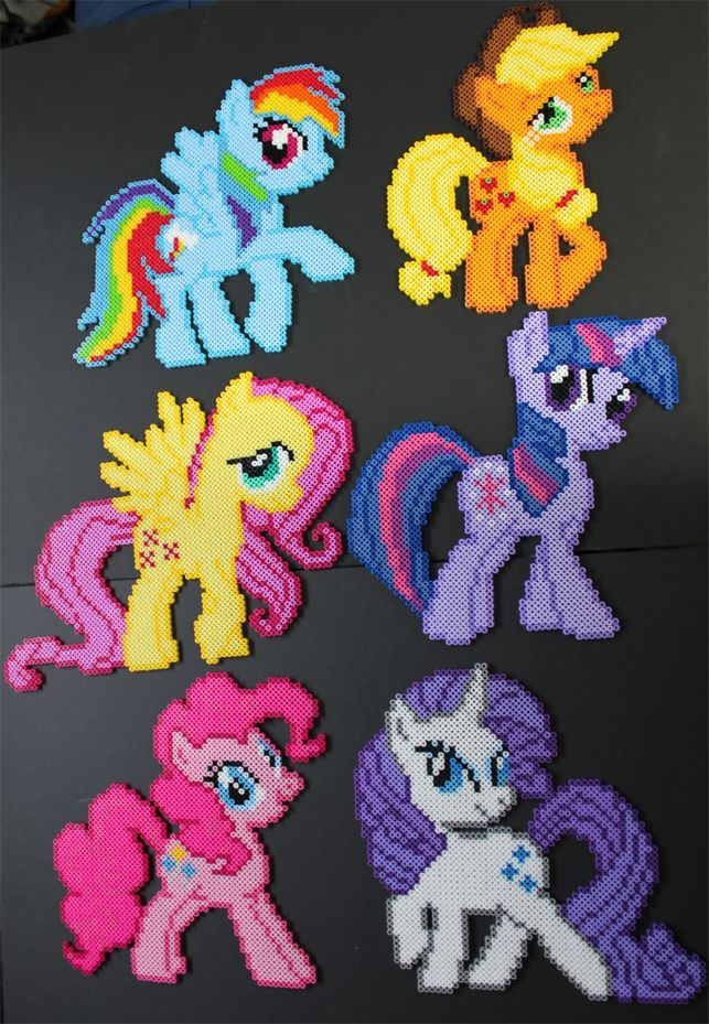 My Little Ponies  Ashley= all the way at the bottom on the right.  Rora= top left, or bottom left?