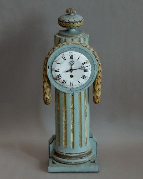 Antique Swedish Giltwood Mantel Clock