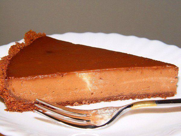 Шоколадно-вишневый чизкейк