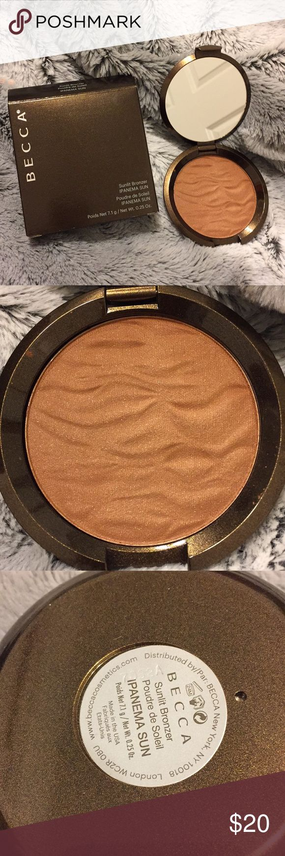 BECCA BRONZER Becca Sunlit Bronzer in IPANEMA SUN Brand new, never swatched  Batch numbers provided for authenticity BECCA Makeup Bronzer
