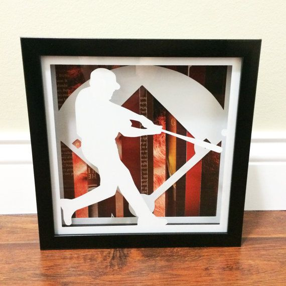 Baseball Shadow Box by ScribbleAStoryDesign on Etsy