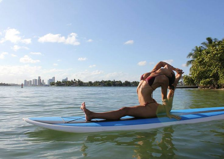 SUPside Down: Stand Up Paddle Board Yoga at Miami Beach