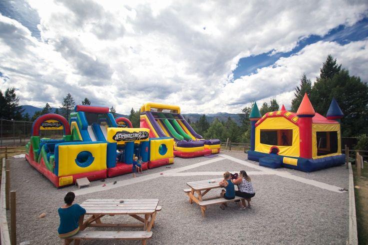 Inflatables #FairmontHotSpringsResort #basecamp #BCRockiesAdventures #bouncycastle #inflatable #fun #play #kids