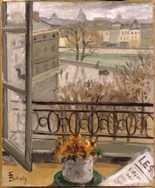 Pallady, Theodor (1871-1956) - 1927-30 Flowers in the Window, Place Dauphine by RasMarley, via Flickr