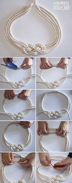 DIY Nautical Knot Rope Necklace. I want to try this as a bracelet!