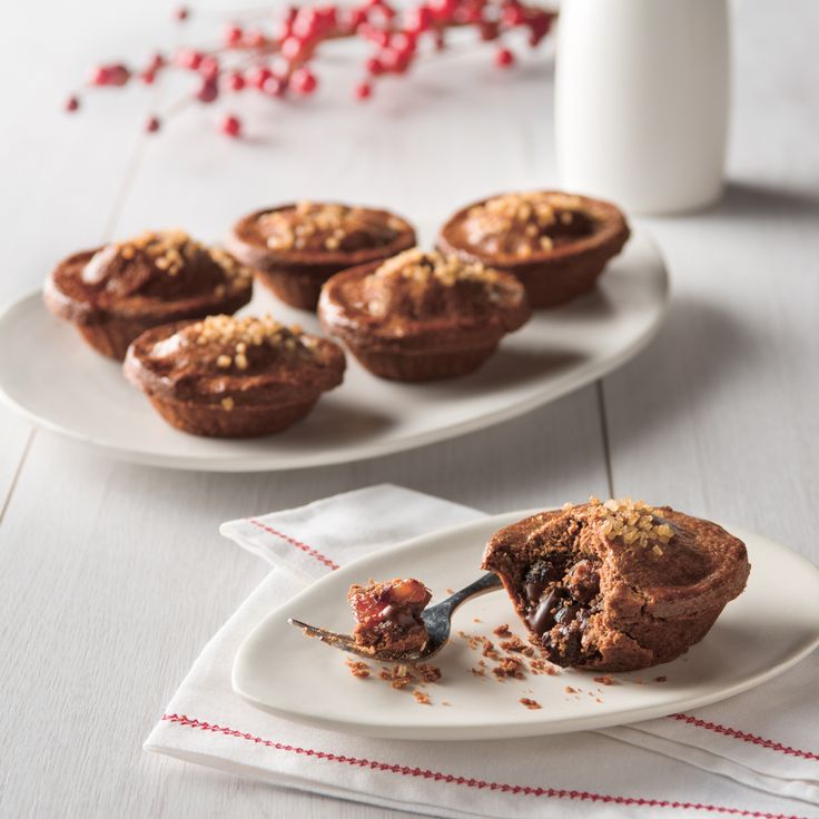 Haigh's Chocolate Fruit Mince Pies. Traditional Christmas Mince Pies - a short chocolate pastry filled with delicious fruit mince infused with Haigh's Chocolate.