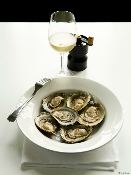 Bluff Oysters... from Bluff, New Zealand located at the bottom of the South Island.
