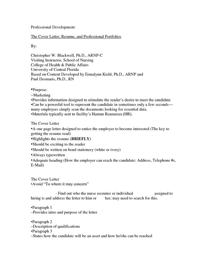 Professional Resume Cover Letter Sample Professional