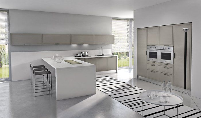 Diseno De Cocinas Elegantes Combina Lineas Simples En Muebles Y