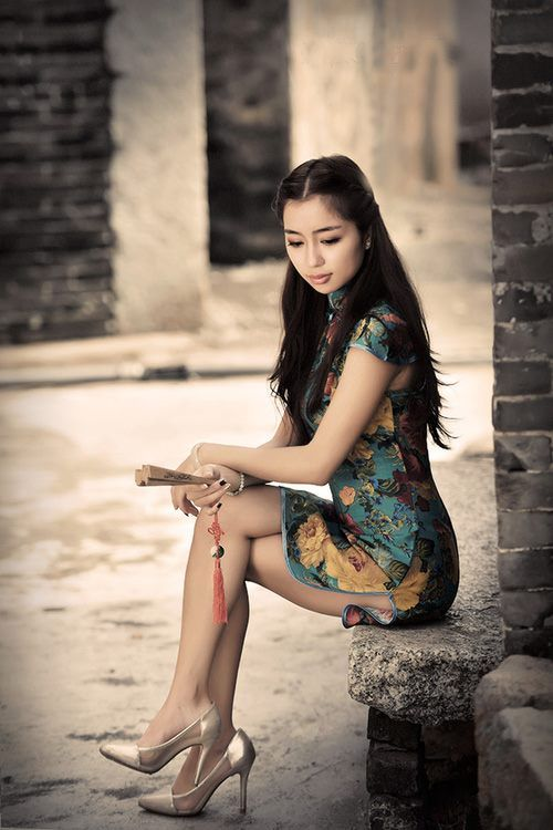 rue ancienne et robe chinoise Tailor Qipao (1)
