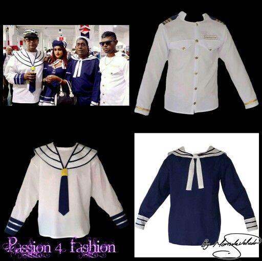 3 different design of Navy costume shirts. #mariselaveludo #fashion #costumewear #navycostumes #passion4fashion