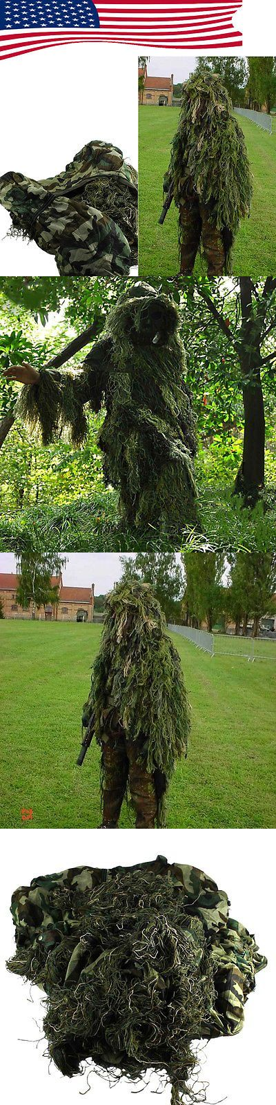 Ghillie Suits 177870: Set Yowie Sniper Camouflage Tactical Camo Suit For Birding Hunting Ghillie -> BUY IT NOW ONLY: $33.99 on eBay!