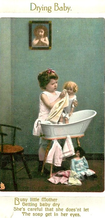 Drying Baby Postcard