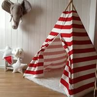 Teepee Tent striped red