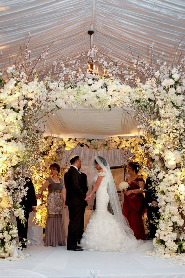 beautiful white floral chuppah butterfly floral event design wedding. Black Bedroom Furniture Sets. Home Design Ideas