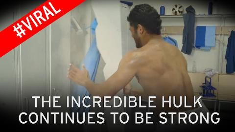 #Hulk #Brasil #Seleçao The Incredible Hulk smashes open his locker in latest spoof for Red Bull