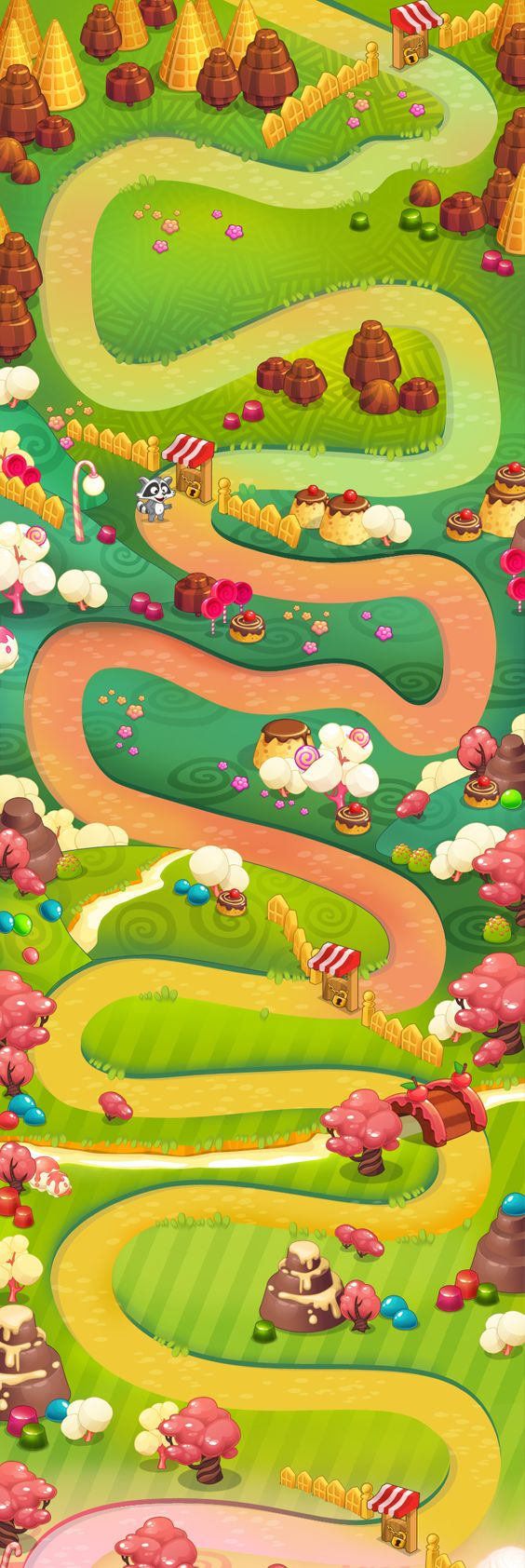 Map for the Caramels game on Behance