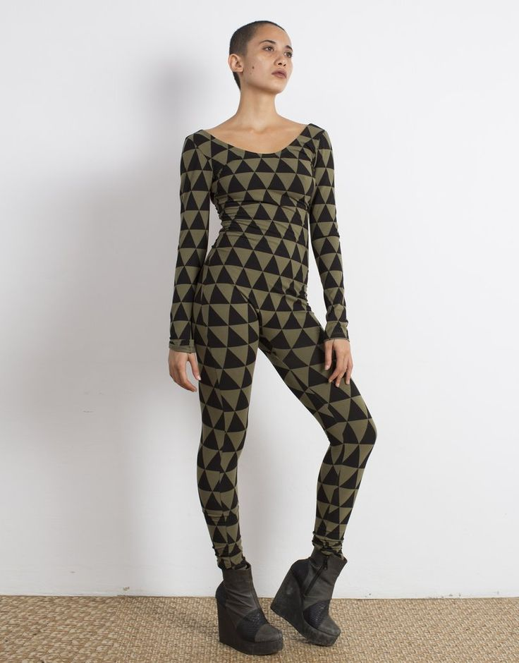 Triangle Print Catsuit Organic Cotton