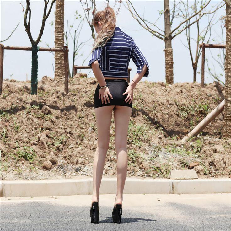 Ultra-Thin Sexy Tight Skirt Mini Slim Hip Miniskirt B -9815