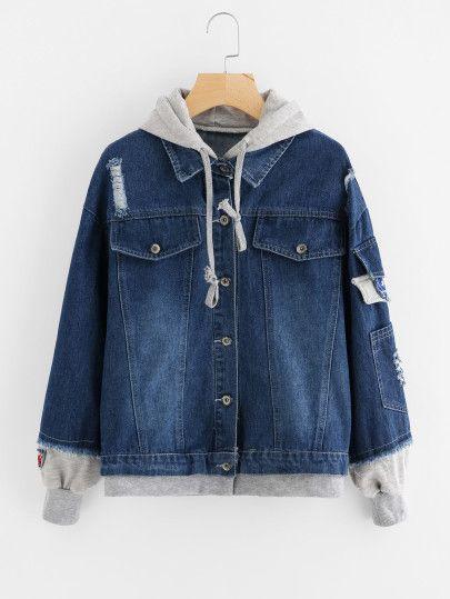 62fa39b85b0f 2 In 1 Hooded Denim Jacket