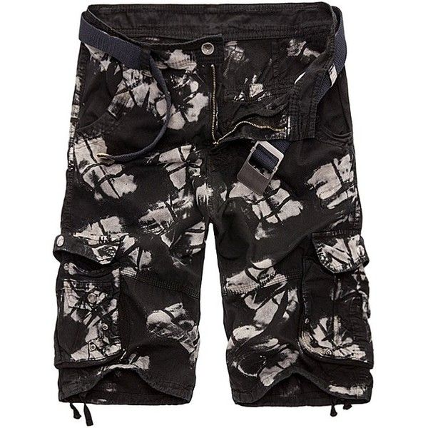 Zipper Fly Drawstring Design Multi Pockets Cargo Shorts (25 CAD) ❤ liked on Polyvore featuring men's fashion, men's clothing, men's shorts, mens drawstring shorts, mens cargo shorts, mens short cargo shorts, mens zipper pocket shorts and mens drawstring cargo shorts