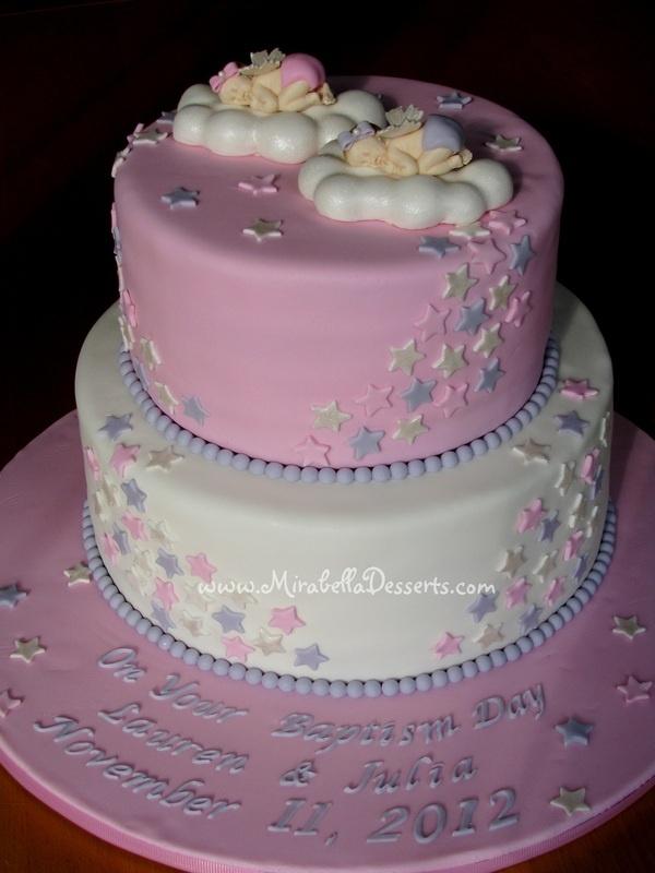 Cake Art Decor Zeitschrift Abo : Baptism cake for twin girls My cakes Pinterest ...
