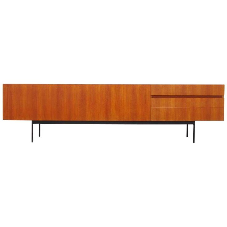 B41 Teak Sideboard by Dieter Waeckerlin for Behr Ca.1958 | From a unique collection of antique and modern sideboards at https://www.1stdibs.com/furniture/storage-case-pieces/sideboards/