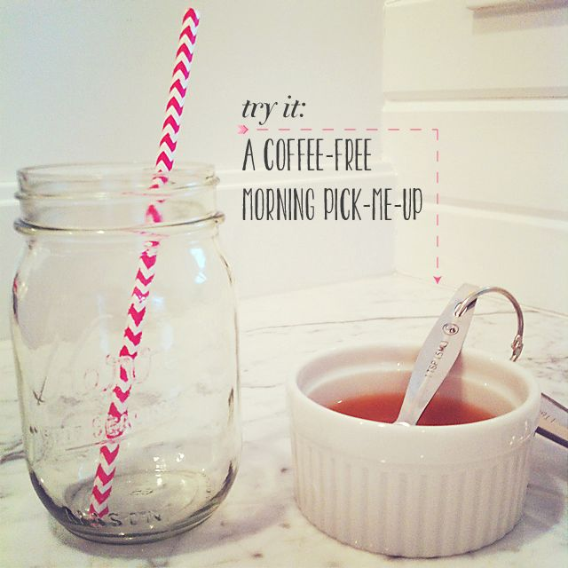 An all natural morning energy drink for non-coffee drinkers