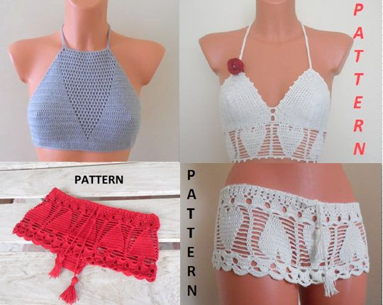 Crochet Halter Top Pattern Bikini Pattern Crochet Pattern