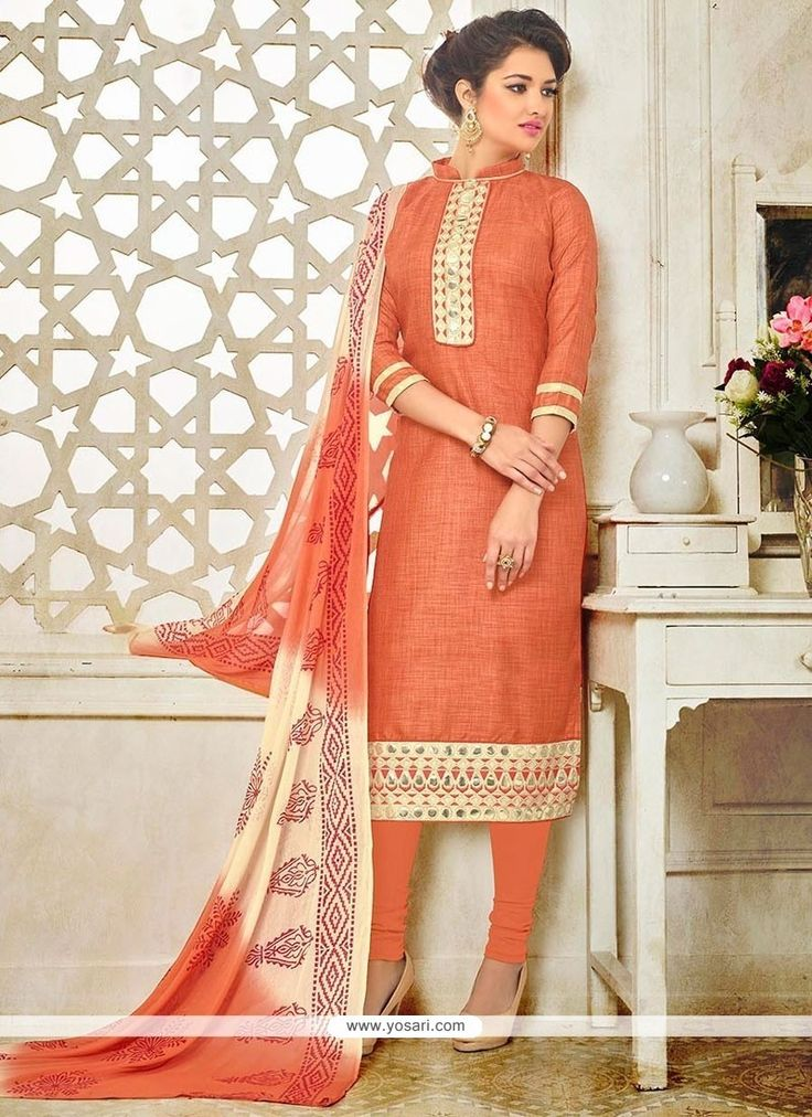 Blooming Silk Embroidered Work Churidar Suit Model: YOS8492