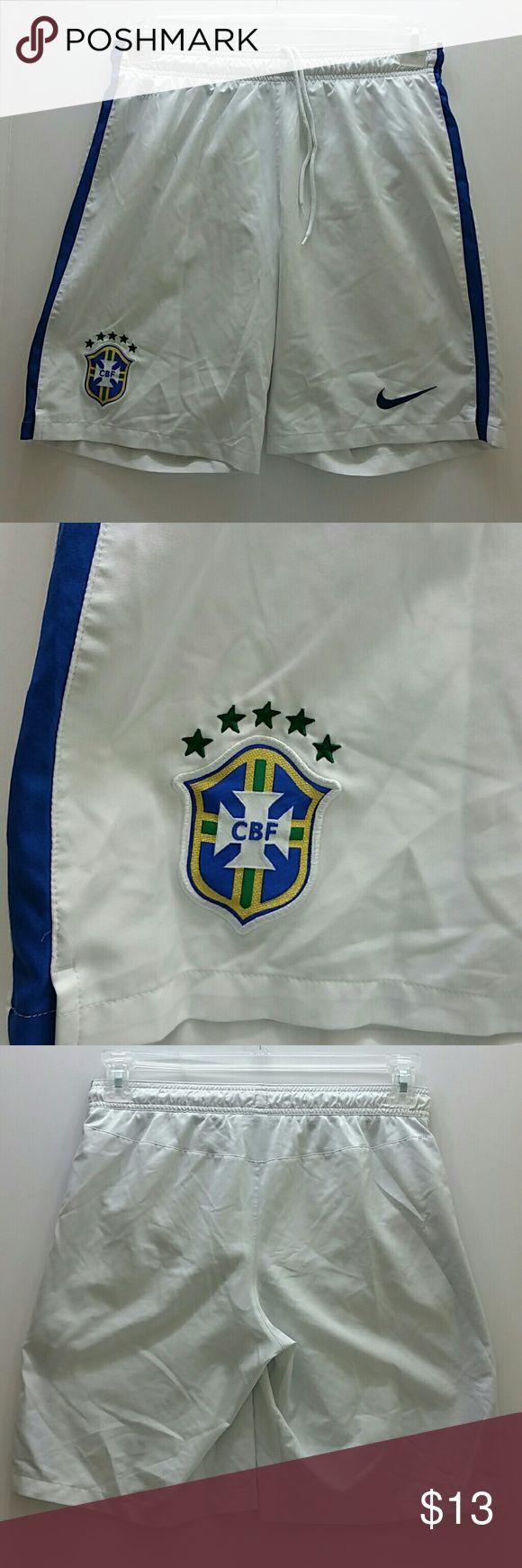 NIKE BRASIL MEN SOCCER SHORT VERY CLEAN INSIDE-OUT   SKE # GMC NIKE  Shorts Athletic