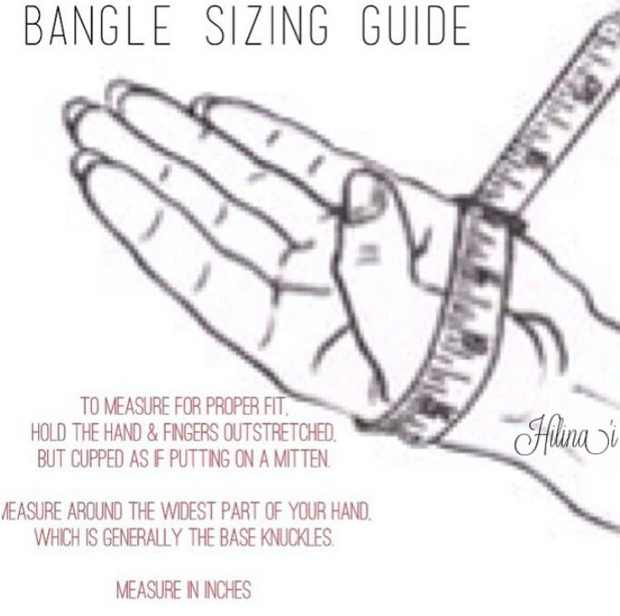 Bangle/Bracelet Sizing Guide