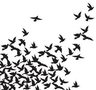blackbird freezer paper stencil for skirt