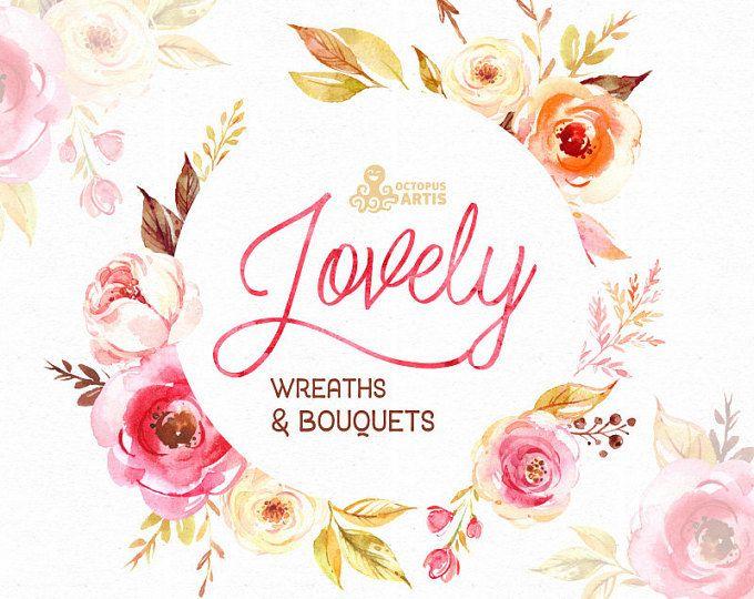 Mooie bloemen. Kransen en boeketten. Aquarel Clipart, pioenroos, pijlen, floral frame, boeketten, valentines, bruiloft, land, diy, boho
