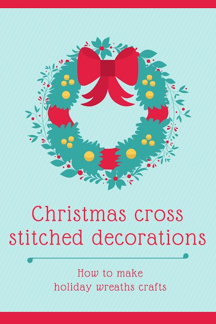 Christmas tree cross stitched decorations