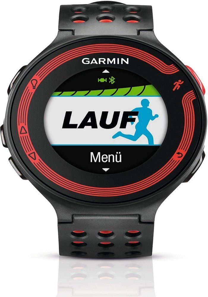 GARMIN Forerunner 220 Watch HRM Bundle, Black/Red. Forerunner 220 GPS Running watch with easy-to-read colour display. Includes Heart Rate Monitor (HRM). Tracks distance, pace, heart rate and identifies personal records. Compatible with free training plans from Garmin Connect. Stylish black/red design. Very easy to use. #fitnesstrackerwithheartratemonitor