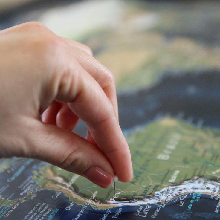 Push Pin Travel Maps made by GeoJango