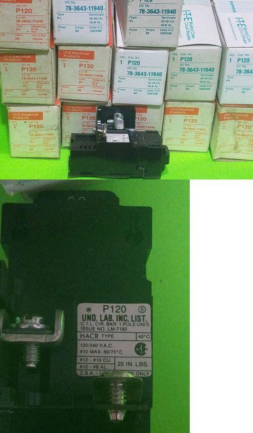 New Pushmatic Bulldog P120 20 amp 1 Pole 120 Volt Circuit Breaker