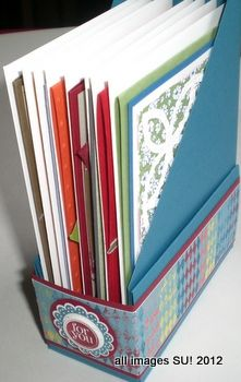 Stampin' Up! Magazine File Card Holder Project