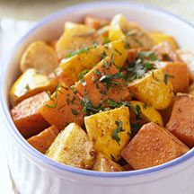Sweet Potato and Squash Bake  this is really good.  Didn't put the squash in it, just sweet potato.