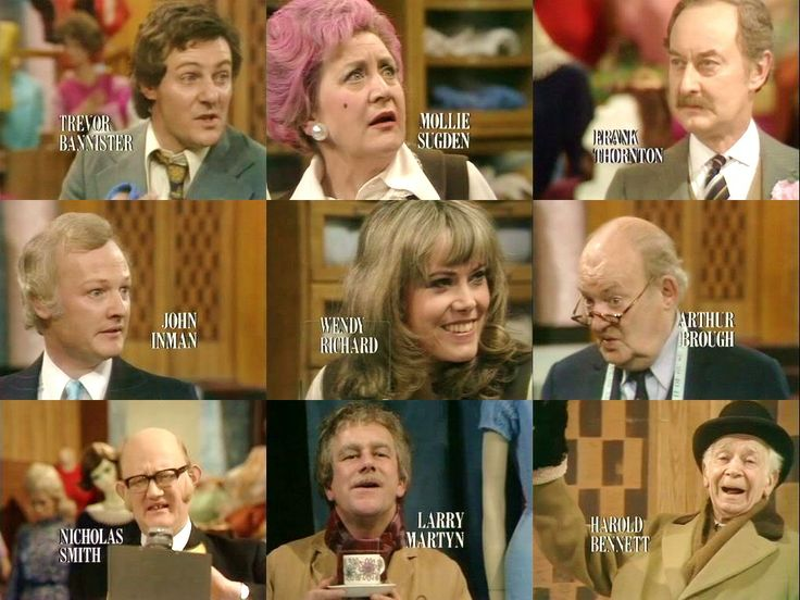 Are You Being Served Cast~spending sometime in a London department store does wonders for my mood.
