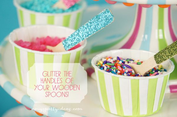 Welcome to Cupcake Town - Cupcake Themed Birthday Party Ideas from AmysPartyIdeas.com featuring #Glitterville
