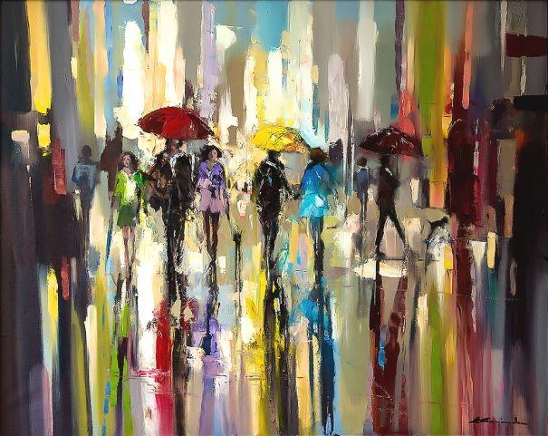 'Rainbow+Rain+in+London'+by+Ewa+Czarniecka