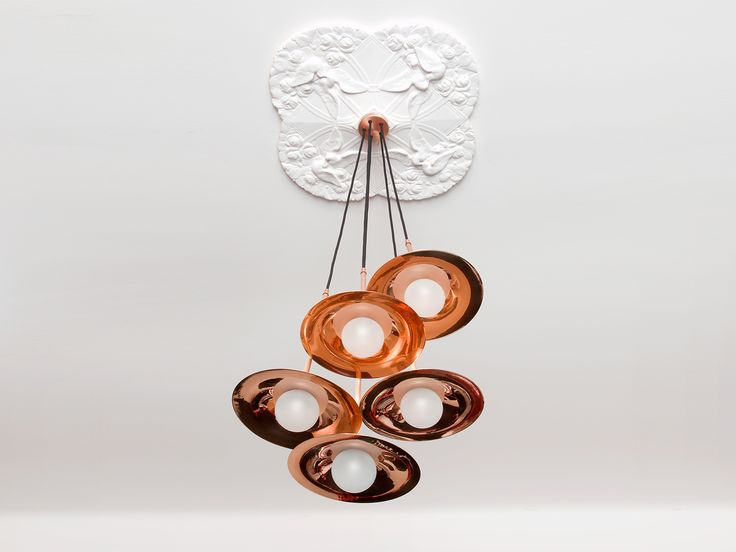 SS-5 WITH DISC Copper pendant lamp by Intueri Light