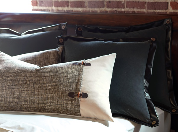 masculine pillow details