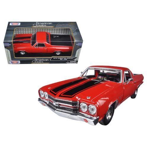 1970 Chevrolet El Camino SS 396 Red 1/24 Diecast Model Car by Motormax