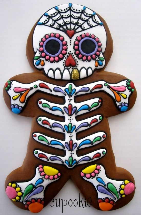 Day of the Dead Gingerbread man - Skullspiration.com - skull designs, art, fashion and more