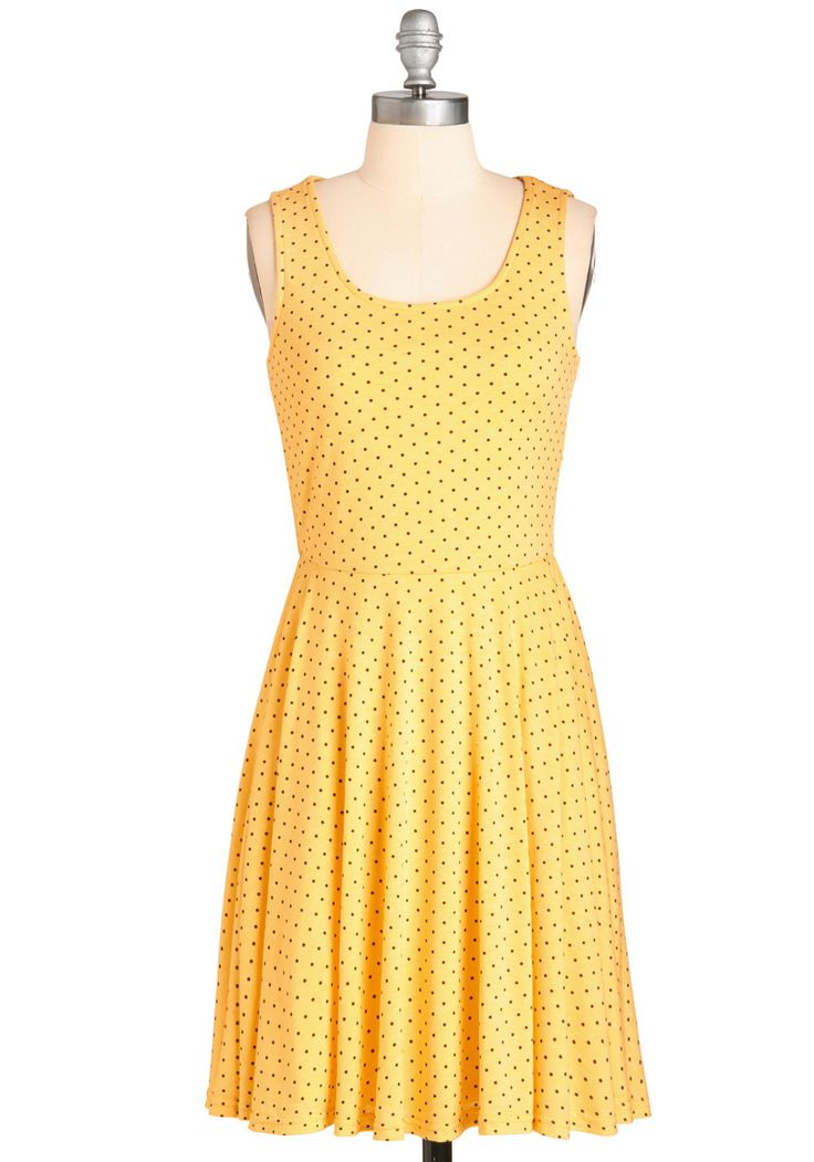 Ain't it Sunny? Dress. What a coincidence - the clouds have parted and you happen to be perfectly outfitted in this cheerful yellow frock! #yellow #modcloth