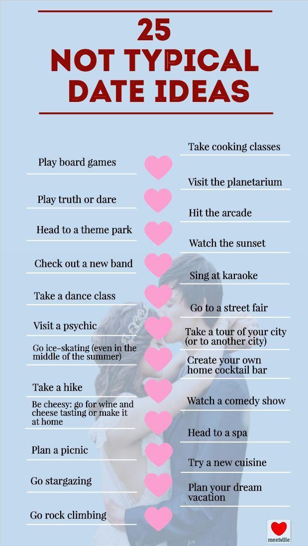 25 Not Typical Date Ideas Cute Date Ideas Creative Date Night Ideas Cheap Date Ideas